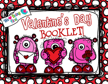 Valentine's Day Booklet - Glue Your Valentines Inside to Make a Book