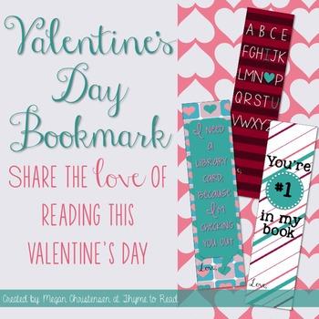 Valentine's Day Bookmark