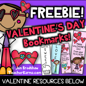Valentine's Day - Bookmark FREE - Gift for Students