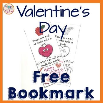 Valentine's Day Bookmark- FREEBIE