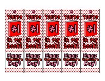 Valentine's Day Bookmark Teacher Gift