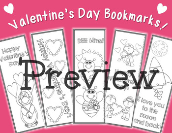Valentine's Day Bookmarks!