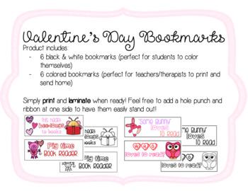 Valentine's Day Bookmarks