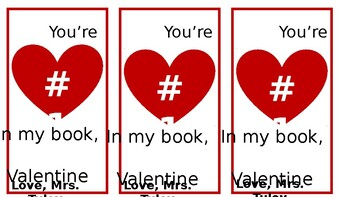 Valentine's Day Bookmarks (Editable)
