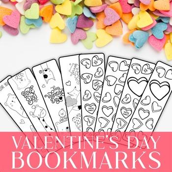 Valentine's Day Bookmarks, Valentine's Gift
