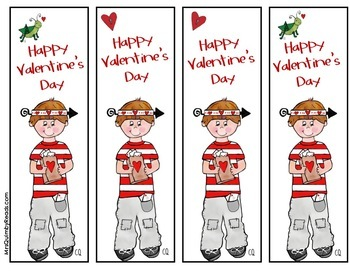Valentine's Day Bookmarks |  [No Homework Coupons]  | FREE