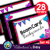 Valentine's Day Boom Card™ Background Borders (Clipart) Set #5