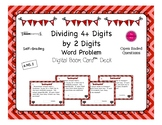 Valentine's Day Boom Card Deck: Dividing 4+ by 2 Digit Word Problems