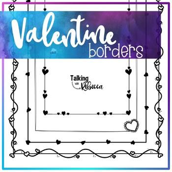 Valentine's Day Borders