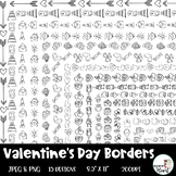 Valentine's Day Page Frames and Borders Clip Art - 15 diff