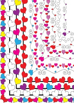 Valentine's Day Borders / Frames * Hearts * Love