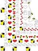 Valentine's Day Borders / Frames * Hearts and Bees * Love