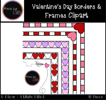 Valentine's Day Borders / Valentine's Day Frames / Valentine's Day Clipart