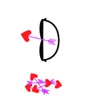 Valentine's Day Bow And Arrows