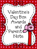 Valentine's Day Box Awards and Parent Note