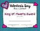 Valentine's Day Box Contest Awards