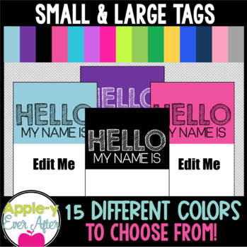 Hello, My Name Is - EDITABLE Brag Tags for Brag Tag Necklaces