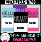 Hello, My Name Is - EDITABLE Reward Tags for Reward Tag Necklaces