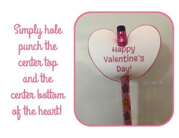 Valentine's Day Pencil Toppers, Brag Tags - Free Printables!