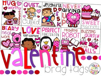 Valentine's Day Brag Tags for February