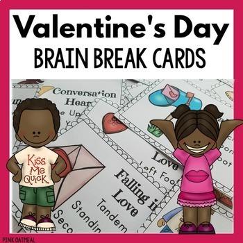 Valentine's Day Brain Break Cards