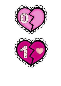 Valentine's Day Broken Hearts Math FREEBIE