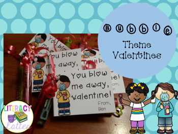 Valentine's Day Bubbles Tags