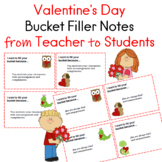 Valentine's Day Bucket Filler Notes From Teacher to Students