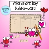 Valentine's Day Build-a-Word Spelling Activity
