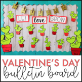 Valentine's Day Bulletin Board Kit | February Bulletin Board | English & Spanish