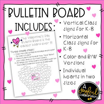 Valentine's Day Bulletin Board No Prep