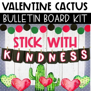 Valentine's Day Bulletin Board or Door Decor - Cactus Theme