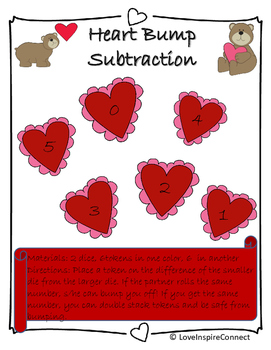 Valentine's Day Bump Game-Subtraction