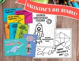 NO PREP! Narwhal and Rocket Valentines Cards