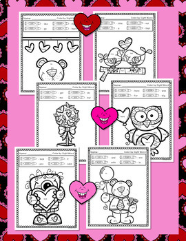 Valentine's Day Activities Bundle: Literacy, Math, & Craft Activity - Crowns