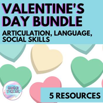 Valentine's Day Bundle | Articulation and Language | No Prep