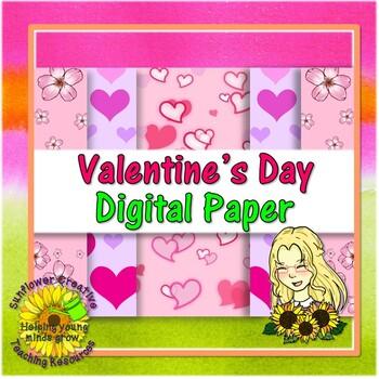 Valentine's Day Seller's Bundle - Clip Art, Digital Paper and Borders