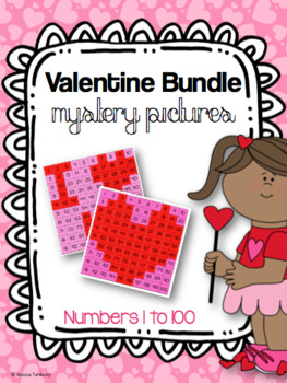 Valentine's Day Bundle Mystery Pictures 1-100