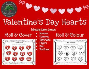 Valentine's Day Bundle - Roll (, Add) & Colour/Cover, Write & Count the Room