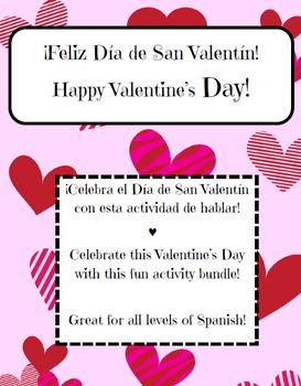 Valentine's Day Bundle Spanish class / Actividades de San Valentin