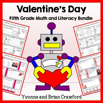 Valentine's Day Bundle for Fifth Grade Endless