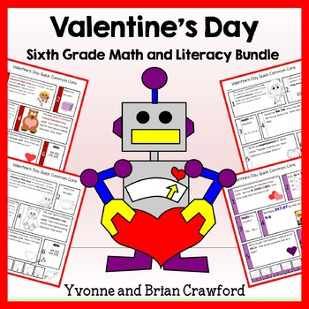 Valentine's Day Bundle for Sixth Grade Endless