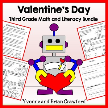Valentine's Day Bundle for Third Grade Endless