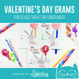 Valentine's Day Bunny Candy Grams | Class Treat or School Fundraiser