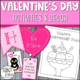 Valentine's Day Bunting Decorations, Gift Tags, and Coloring