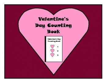 Valentine's Day COUNTING Adapted Velcro BOOK, Speech Therapy, Autism