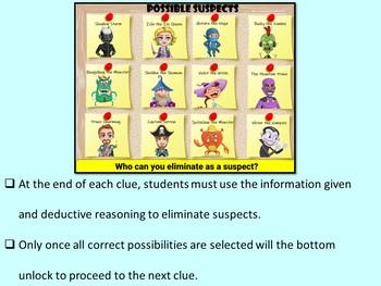 Valentine's Day CSI Digital Math Mystery Game - Differentiated Set