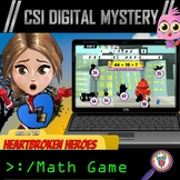 Valentine's Day CSI Digital Math Mystery Game - Distance Learning