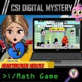 Valentine's Day CSI Digital Math Mystery Game - Addition &