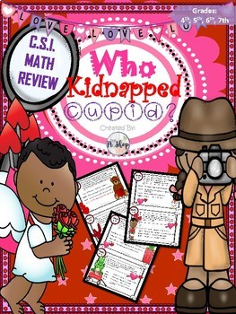 Valentine's Day: CSI Math Review {Kidnapped Cupid}